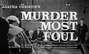 Murder most foul titel