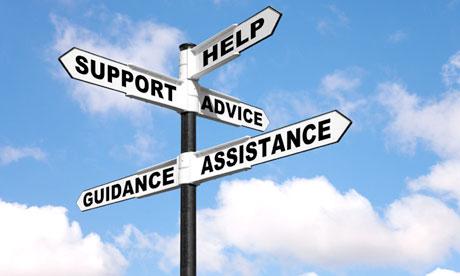 Help Support Advice Guidance Assistance