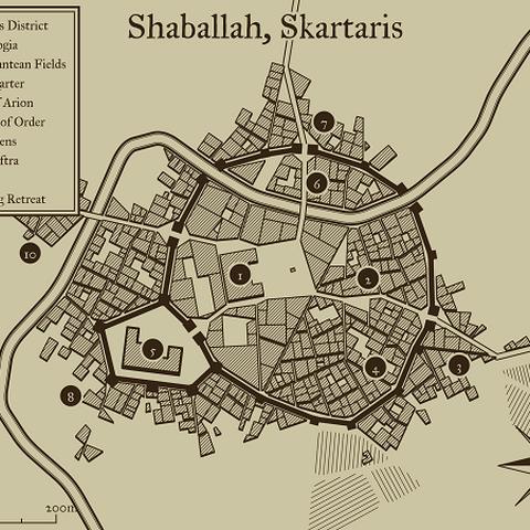 Map of Shamballah, Skartaris