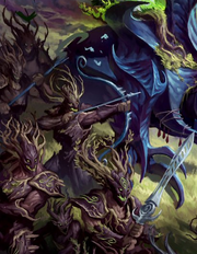 Cazadores de Kurnoth Hunters Sylvaneth ilustración