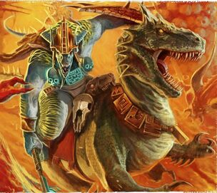 Saurus Knights Seraphon Illustration
