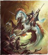 Akhelian King against Daemonettes 01