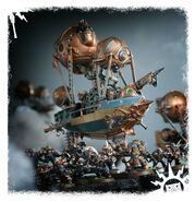 Frigate Arkanauts Admiral Kharadron diorama