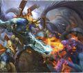 Seraphon Eternity Warden Saurus Guard vs Tzeentch Flamer Sigmarlore.jpg