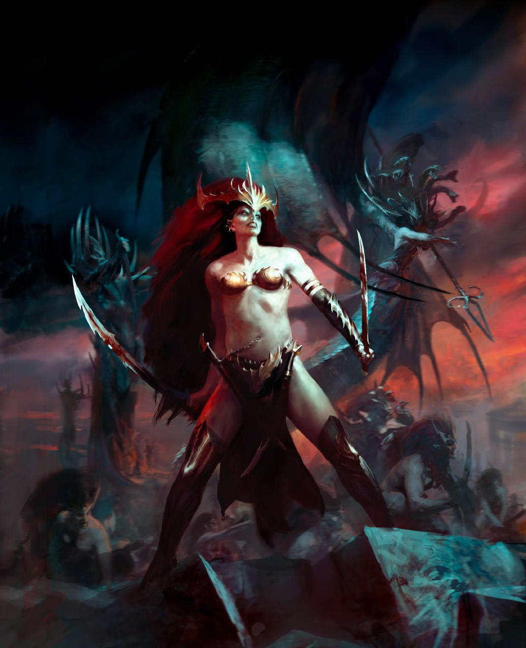 Colour Schemes Daughters Of Khaine Age Of Sigmar Wikia Fandom Powered