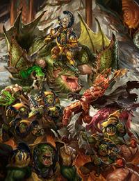 Ironjawz vs Bloodbound Colour Illustration