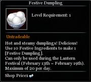 Festive Dumpling