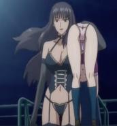 Risako carries Karen