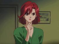 Bianca in green robe