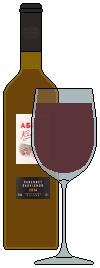 Вино красное 'Абрау Каберне' (Россия)