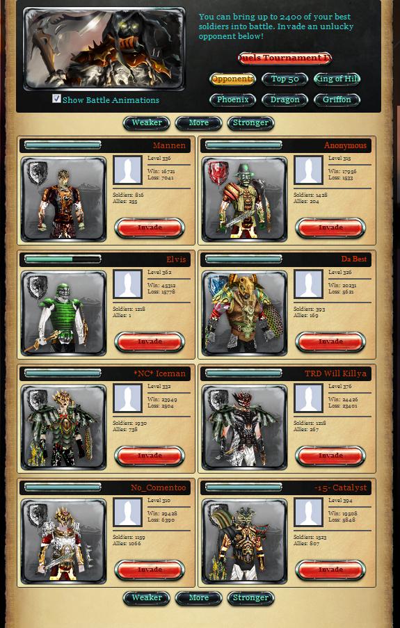 Battle Page Screenshot