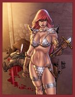 Red sonja comission by paulosiqueira color by AssisLeite
