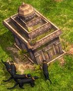 Black Panthers guarding treasure