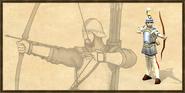 Longbowman history portrait