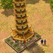 China - porcelain tower
