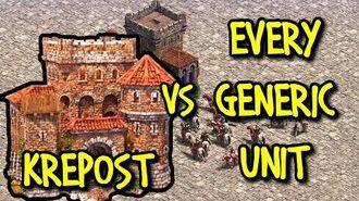 KREPOST vs EVERY GENERIC UNIT AoE II Definitive Edition