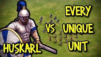ELITE HUSKARL vs EVERY UNIQUE UNIT AoE II Definitive Edition