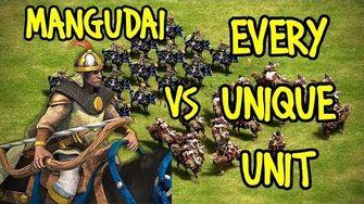 ELITE MANGUDAI vs EVERY UNIQUE UNIT AoE II Definitive Edition