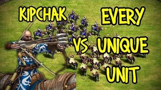 ELITE KIPCHAK vs EVERY UNIQUE UNIT AoE II Definitive Edition