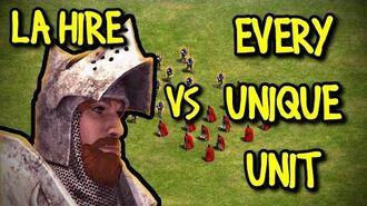 LA HIRE vs EVERY UNIQUE UNIT AoE II Definitive Edition