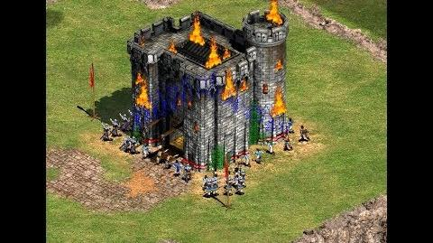 William Wallace 7th mission but I stay on Feudal Age while destroying the enemy castle