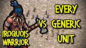 IROQUOIS WARRIOR vs EVERY GENERIC UNIT AoE II Definitive Edition