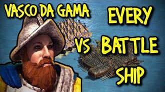 VASCO DA GAMA vs EVERY SHIP AoE II Definitive Edition