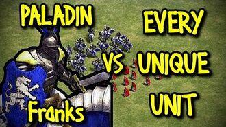 PALADIN (Franks) vs EVERY UNIQUE UNIT AoE II Definitive Edition