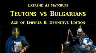 Extreme AI Matchup (Teutons vs Bulgarians) - Age of Empires II Definitive Edition