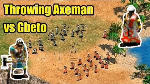 Throwing Axeman vs Gbeto