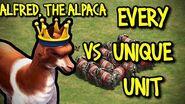 ALFRED, THE ALPACA vs EVERY UNIQUE UNIT AoE II Definitive Edition