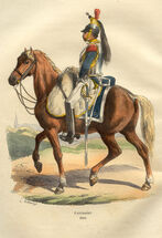 Napoleon Cuirassier in 1809 by Bellange