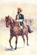 14th Murrays Jat Lancers (Risaldar Major) by AC Lovett (1862-1919)