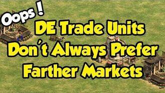 DE trade units don't always pick the longest route
