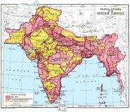 British Raj map