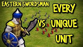EASTERN SWORDSMAN vs EVERY UNIQUE UNIT AoE II Definitive Edition