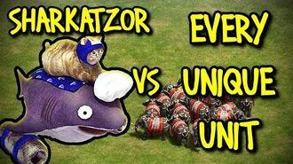 SHARKATZOR vs EVERY UNIQUE UNIT AoE II Definitive Edition