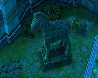 Trojan horse in the night.