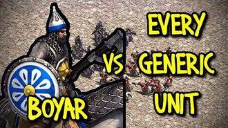 ELITE BOYAR vs EVERY GENERIC UNIT AoE II Definitive Edition