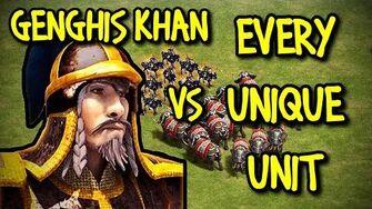GENGHIS KHAN vs EVERY UNIQUE UNIT AoE II Definitive Edition