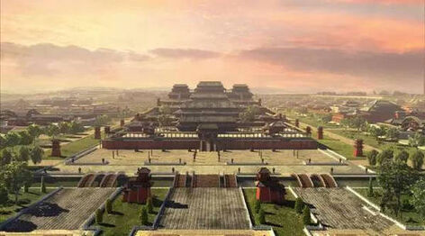 隋唐風格的宏偉宮殿