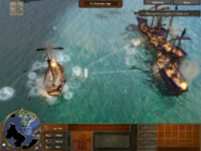 Privateer being attacked