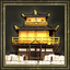 Golden pavilion icon