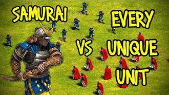 ELITE SAMURAI vs EVERY UNIQUE UNIT AoE II Definitive Edition