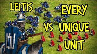 ELITE LEITIS vs EVERY UNIQUE UNIT AoE II Definitive Edition