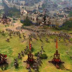  Mongoles asediando la cuidad inglesa