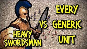 HEAVY SWORDSMAN vs EVERY GENERIC UNIT AoE II Definitive Edition