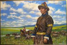 蒙古牧民藝術圖
