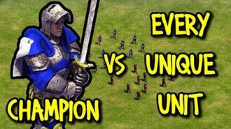 CHAMPION (Britons) vs EVERY UNIQUE UNIT AoE II Definitive Edition