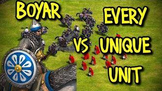 ELITE BOYAR vs EVERY UNIQUE UNIT AoE II Definitive Edition